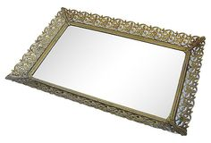 Lacy Gold Mirror Tray on OneKingsLane.com I have this.