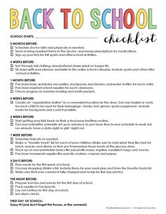 Back to School Checklist to help you organize and get everything done before school starts!
