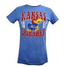Women's Kansas Jayhawks Bubble Letter T