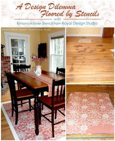 Painting and Stenciling a Wood Floor | Updating Old Wood Floors