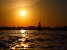 Sunset on the River Nile (Luxor, Egypt)
