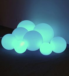Glow Bubble Lamps. Great for those late night bathroom trips in the dark