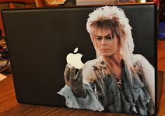 bowie geek, stickers, apple computers, decals, vinyl, apples, mac, david bowie, labyrinths