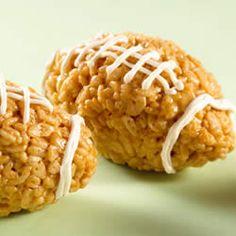 KELLOGG'S* RICE KRISPIES* Mini Footballs Recipe (a Super Bowl Tradition!)