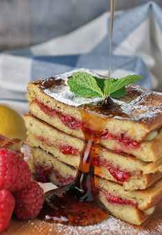A perfect pairing of raspberry, brie, and waffles. Get them while they're hot!   Shared via http://www.ruled.me/