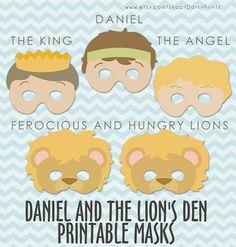 daniel and the lion den art, daniel lions den craft, daniel and the lions den craft, printabl mask, preschool