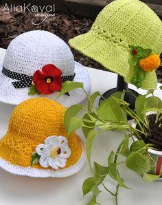 Garden Party Crocheted Hat. Pattern Update