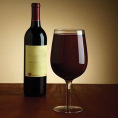 The Full Bottle Wine Glass - Hammacher Schlemmer
