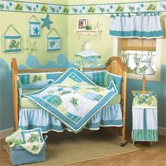 Adorable baby bedding - inspirations for Sea Life Decor.