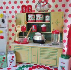 Vintage Tin Toy Kitchen Cupboard
