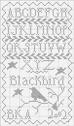 free cross stitch samplers, crossstitch, black bird, cross stitches, blackbird designs cross stitch