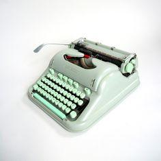 mint green typewriter