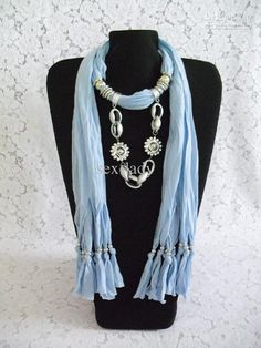 Wholesale DHL Free 2012 new Soft Charm Pendant Scarves Jewelry Scarves Fashion Jewelry Scarf Mix, Free shipping, $3.71-4.18/Piece | DHgate