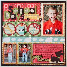 school scrapbook, school layout, craft, schools, school supplies