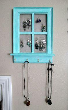 window made into jewelery organizer