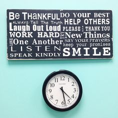 NEW Family Rules Sign - Be Thankful - Typography Word Art in Landscape on Etsy, $95.00