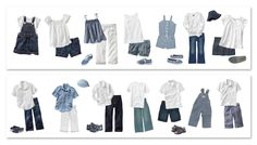 children outfits, blues (neutral)