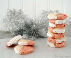 cherri almond, almond shortbread, food, shortbread cooki, christma, flamingo toe