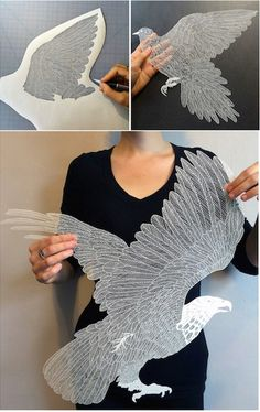 Meticulously hand-cut paper designs—incredible.