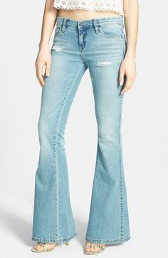 BLANKNYC Distressed Flared Jeans | Nordstrom