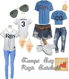 """""""Tampa Bay Rays Baseball Outfit"""" by minaowl on Polyvore"""