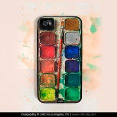 iPhone 4 case iPhone 4s case - Watercolor Set iPhone Hard Case. $16.99, via Etsy.    I'm so in love with this