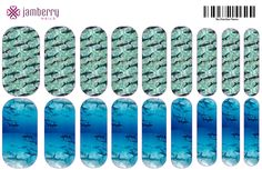Shark Week themed custom nail wraps, create your own with Jamberry Nail Art Studio.  http://kkeune.jamberrynails.net