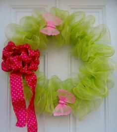 Apple Green Geo Mesh Wreath
