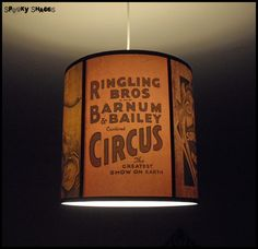 Circus Sideshow pendant lamp shade lampshade  by SpookyShades, €95.00
