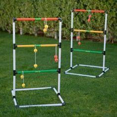 SUCH a great party game for all ages and you can make one yourself from PVC pipe and golf balls