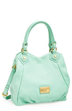 MARC BY MARC JACOBS 'Classic Q Fran - Small' Shopper available at #Nordstrom in smoked almond jacob classic, purs, nordstrom handbags, color, marc jacobs fran, mint, handbags marc jacobs, small handbag, marc jacobs handbag
