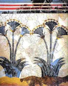 Minoan Sea Daffodils  Late Bronze age  painted some time before 1630 BC  Akrotiri, Thera
