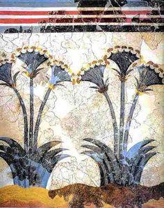 Minoan Sea Daffodils  Late Bronze age  painted some time before 1630 BC  Akrotiri, Thera minoan art, greec, ancient, wall paintings, antiqu, fresco paint, minoan fresco, akrotiri, santorini