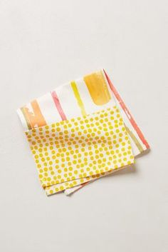 Watercolor stripe napkins