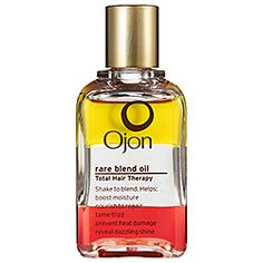 7 botanical oils make 1 multitasking hair elixir that moisturizes, repairs, de-frizzes, protects, and adds luster. Just one drop makes a world of difference. Ojon Rare Blend Oil Total Hair Therapy