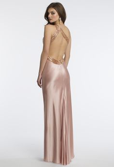 Camille La Vie One Shoulder Prom Dress with Open Back