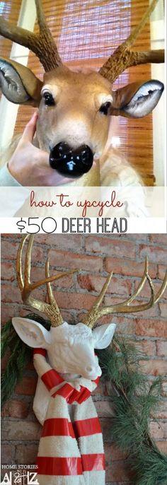 faux deer head diy
