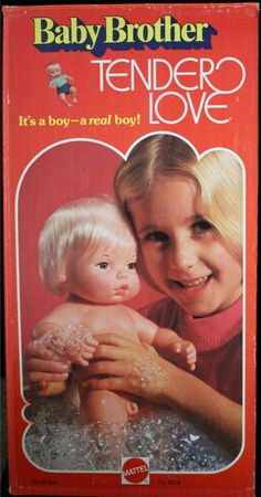 MATTEL: 1972 Tender Love Baby Brother Doll #Vintage #Toys