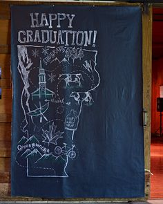 grad party photo backdrop. I would love to do a photobooth for Autumn