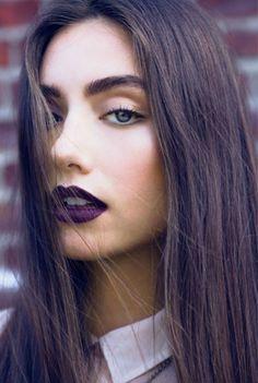 Deep plum lip colour