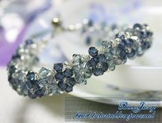 The Ice Blossom Bracelet is the perfect accessory for the winter months. Crisp and cool, the interlocking crystals in this bead stitching pattern evoke the look of an ice sculpture.