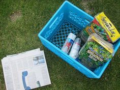 How to turn a milk crate into a container garden #garden #gardening #diy