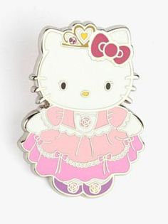 #HelloKitty makes a beautiful princess! This lapel pin is a must for collectors and fashionistas