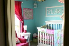 Project Nursery - Pink and Aqua Nursery - Project Nursery