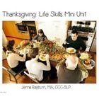 Thanksgiving Life Skills Mini Unit for Speech & Language Therapy