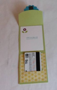 Baby Card with Gift Card Holder