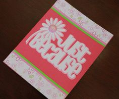 Just Because Daisy handmade greeting card by AnLieDesigns on Etsy, $2.00