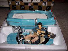 Elvis Presley car cookie jar