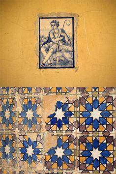 #tile #azulejos #jaune #sol #decoration