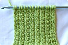 Tunisian Crochet How-To … Tunisian Crossed Stitch